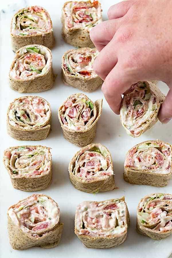 idée wrap apéro mayonnaise épices bacon