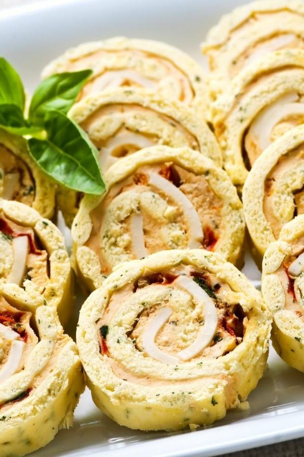 idée wrap apéro pois verts bacon fromage crème