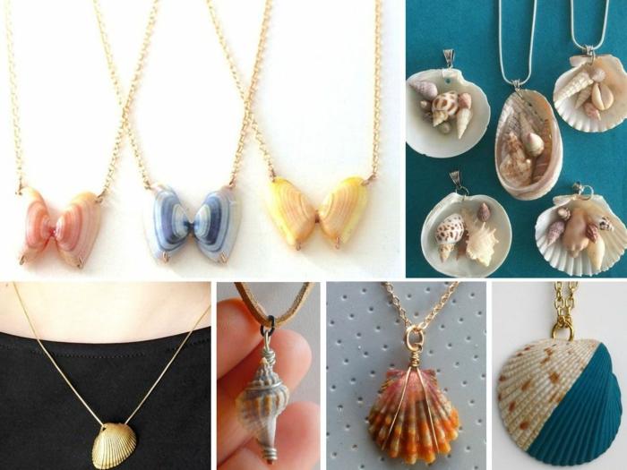 idées originales bijoux coquillage