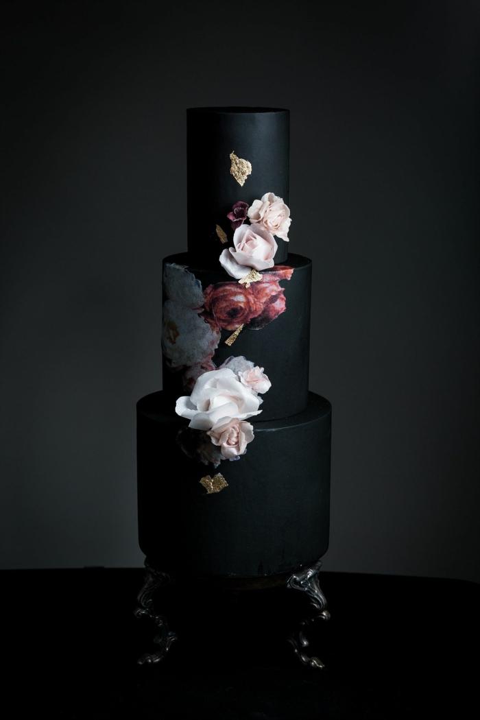 inspiration gâteau de mariage noir