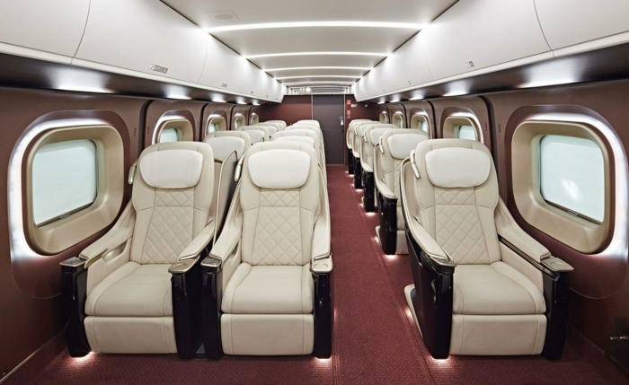 intérieur train shinkansen first class