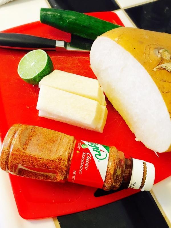 jicama de la poudre de chili