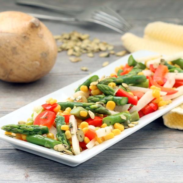 jicama un plateau de salade