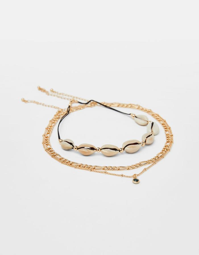 joli collier tendance bijoux coquillage