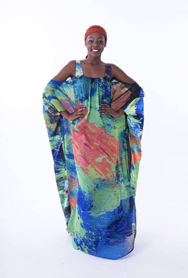 mode africaine femme 2019 en bleu