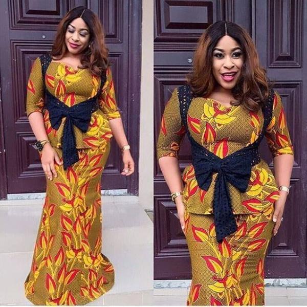 mode africaine femme 2019 en deux parties