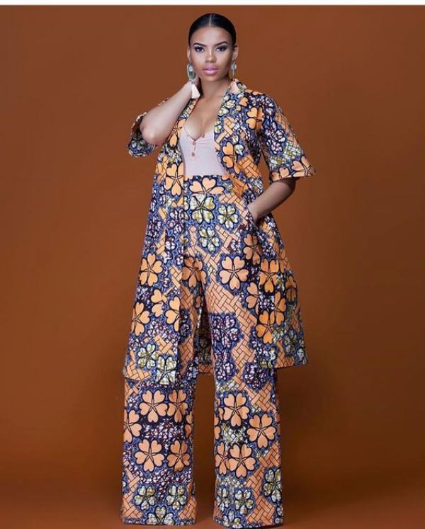 mode africaine femme 2019 ensemble à motifs floraux