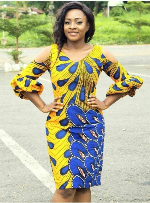 mode africaine femme 2019 figures comme la queue du paon