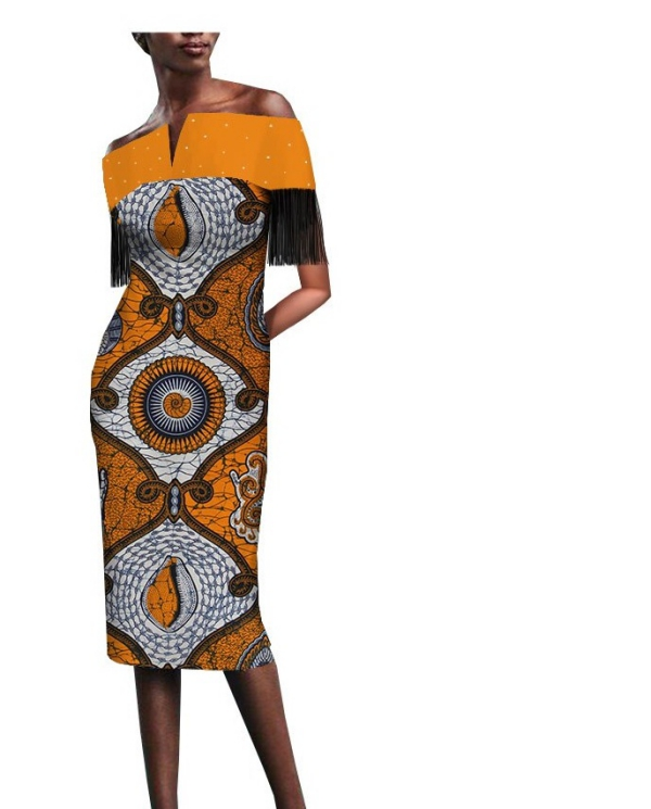 mode africaine femme 2019 robe fuselée