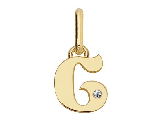 pendentif personnalisé lettre en or diamant