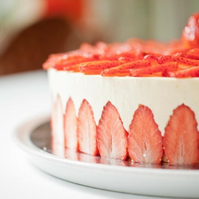 préparation facile recette fraisier idée