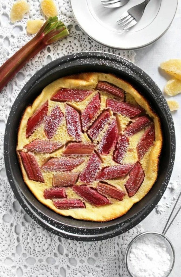 recette Clafoutis rhubarbe