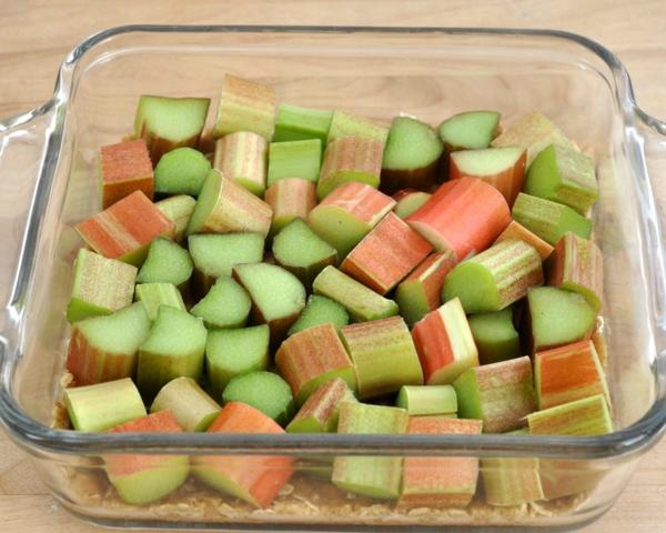 recette Confiture de rhubarbe étape 1