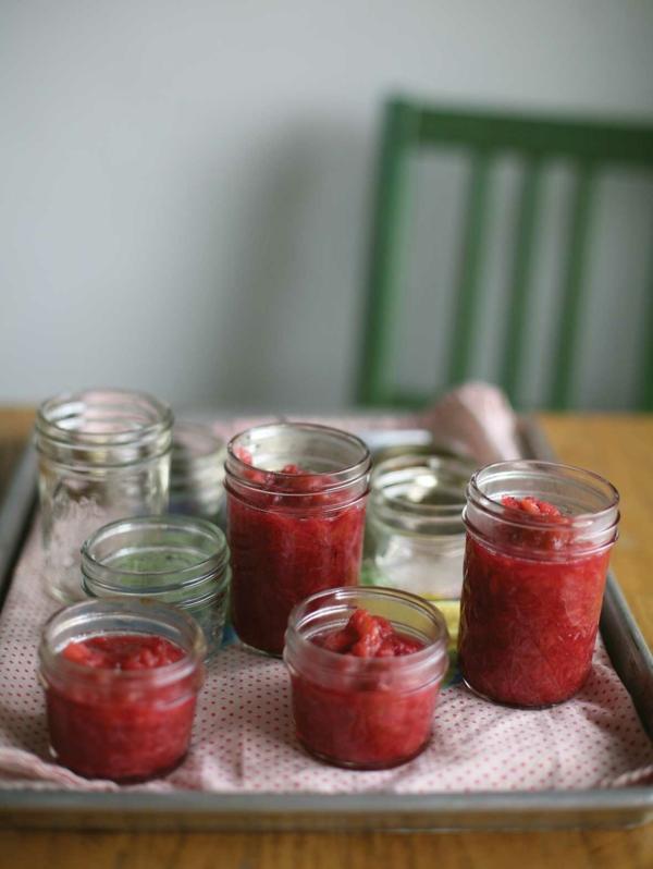 recette Confiture de rhubarbe étape 3