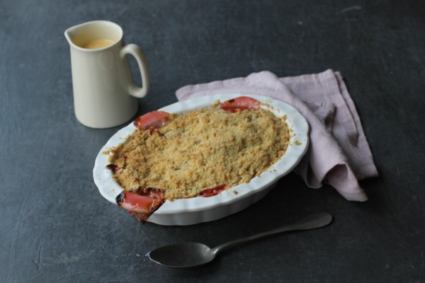 recette Crumble rhubarbe étape 3