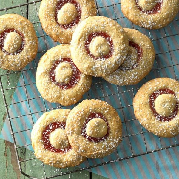 recette biscuits à la confiture de rhubarbe