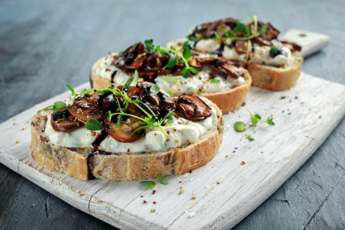 recette bruschetta aux champignons