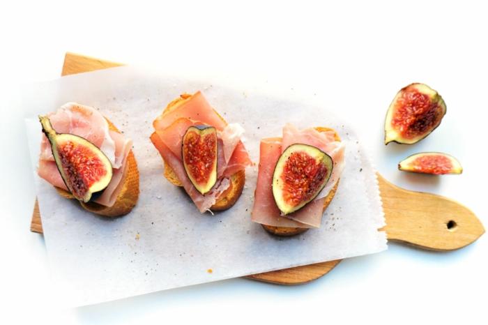 recette bruschetta aux figues et jambon préparation rapide