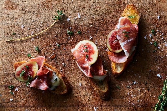 recette bruschetta aux figues et jambon