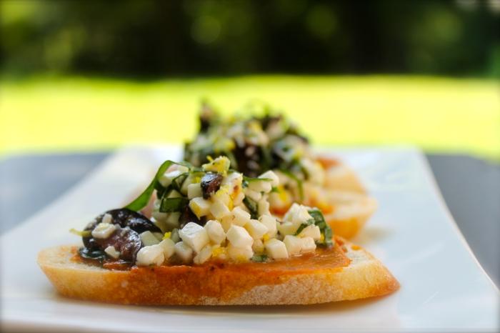recette bruschetta aux olives et feta