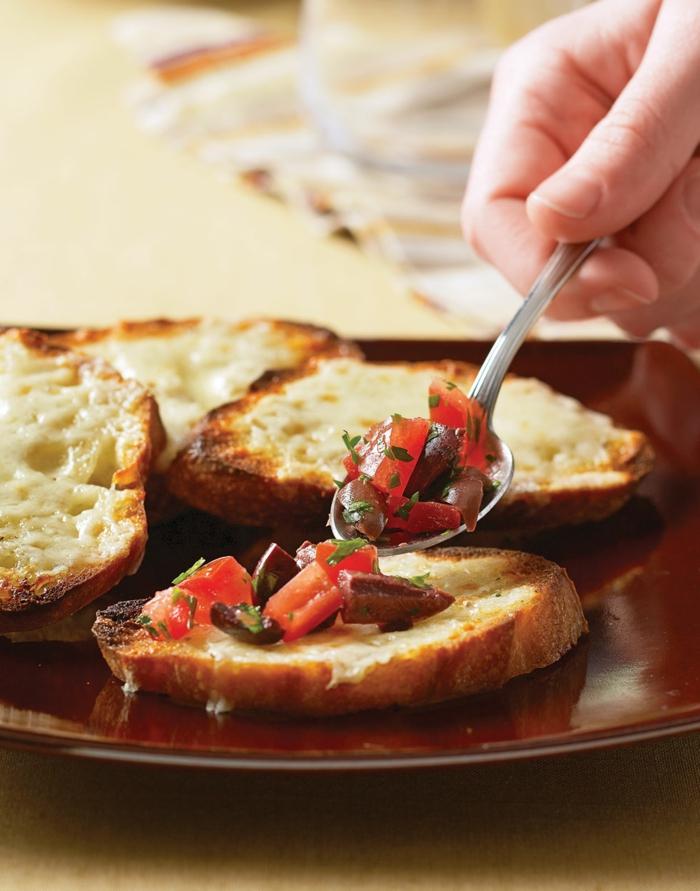 recette bruschetta aux tomates et olives