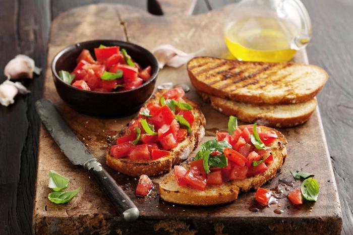recette bruschetta classique aux tomates et basilic