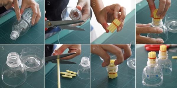 recette bulles de savon diy baguette à bulles bouteille en plastique pailles