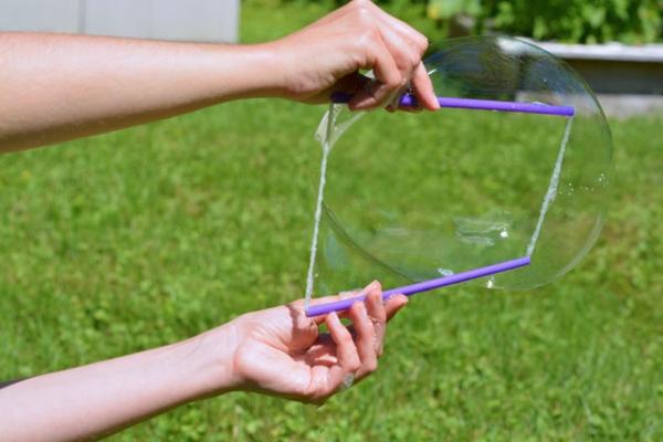 recette bulles de savon diy filet à bulles pailles ficelle
