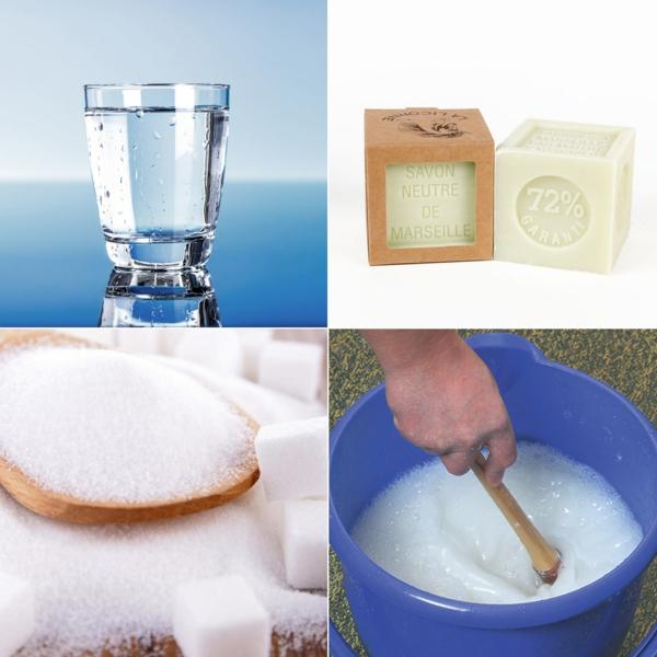 recette bulles de savon eau sucre colle à papier peint savon neutre