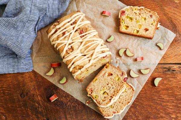 recette pain à la rhubarbe et à la cannelle