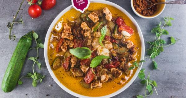 recette pesto rosso poulet aux courgettes et au pesto rosso