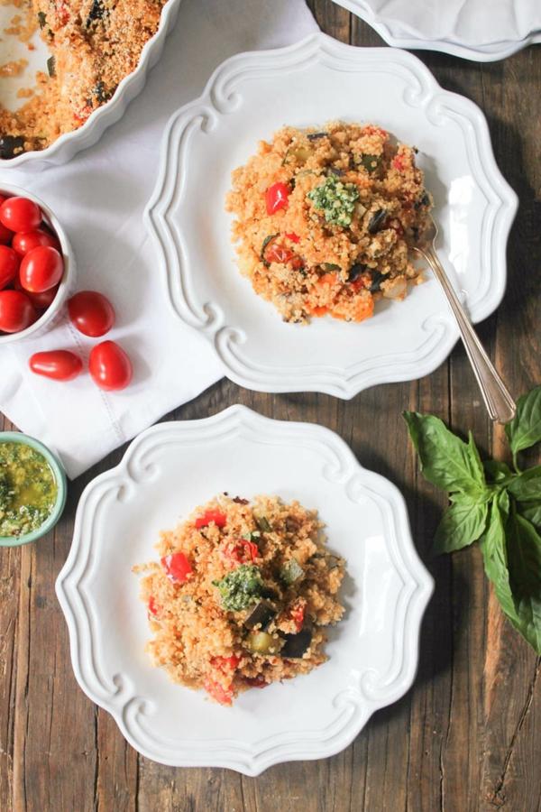 recette pesto rosso ratatouille quinoa pesto rosso mozzarella
