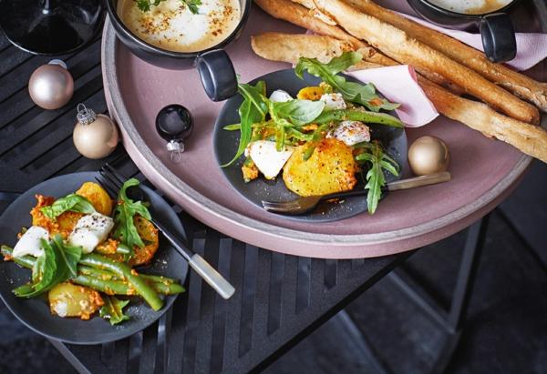 recette pesto rosso salade pommes de terre pesto rosso et mozzarella fraîche