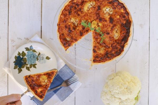 recette pesto rosso tarte au chou-fleur et pesto rosso