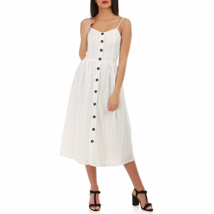robe blanche à broderie anglaise robe boutonné devant