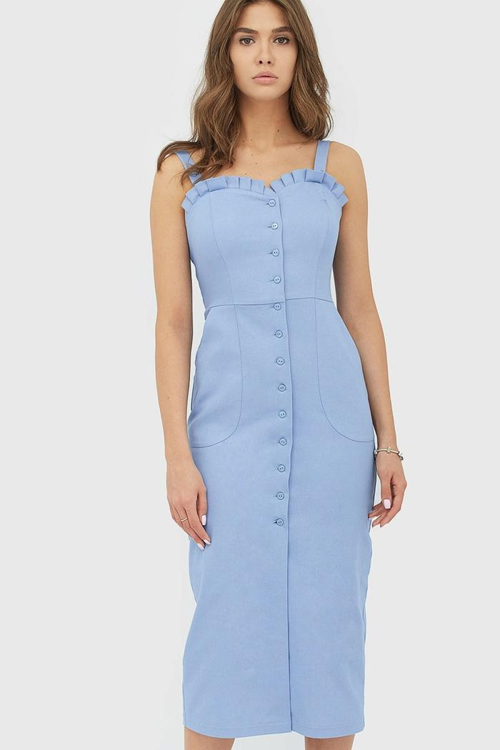 robe boutonnée devant élégante