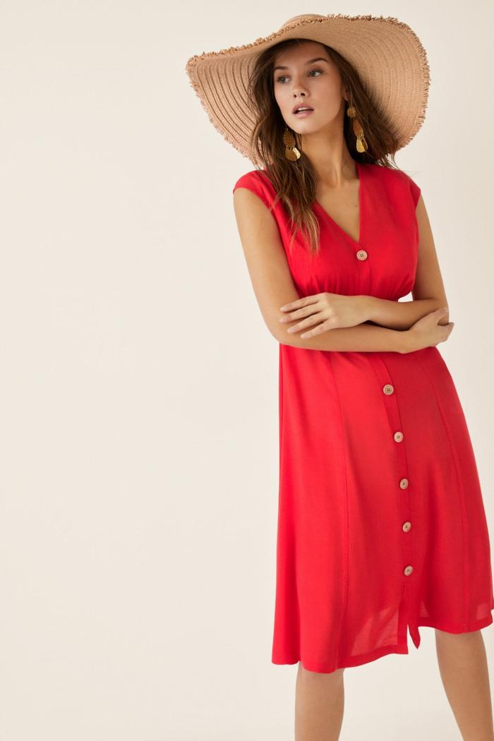 robe boutonnée devant