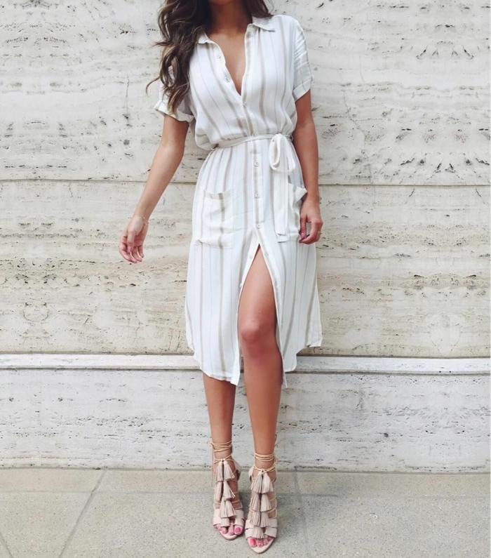 robe boutonnée devant légère et pratique