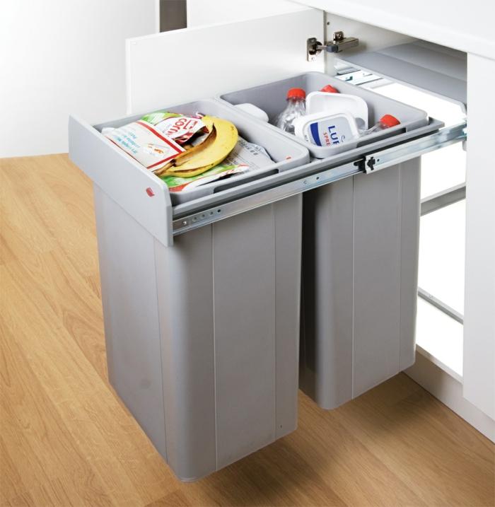 séparer les déchets recyclables cuisine zéro déchet