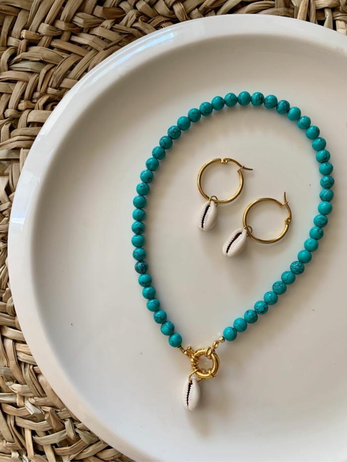 set de bijoux coquillage mode femme