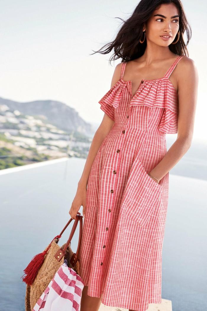 tenue estivale robe boutonnée devant