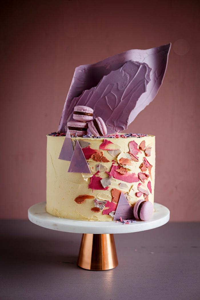 touche artistique gâteau de mariage brushstroke