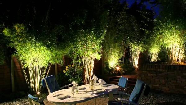 éclairage de jardin belles lumières