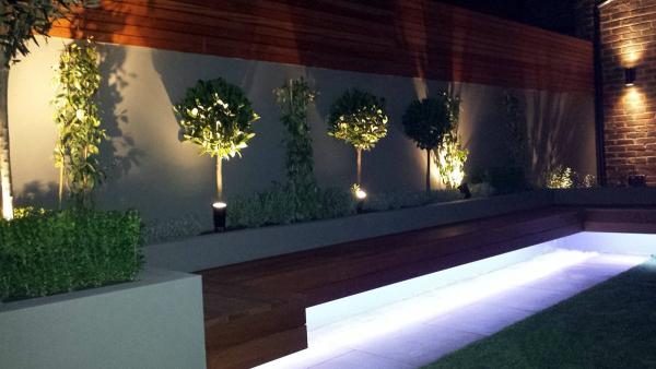 éclairage de jardin des effets lumineux