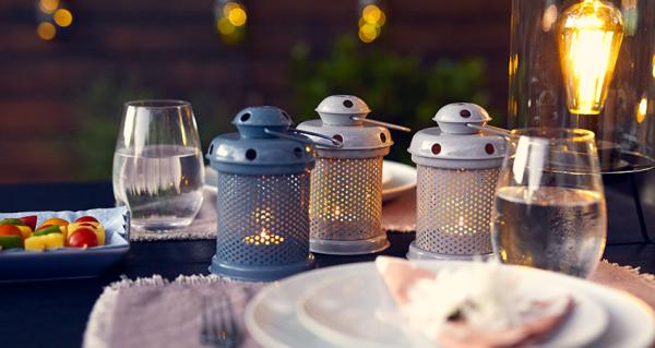 éclairage de jardin lanternes en métal