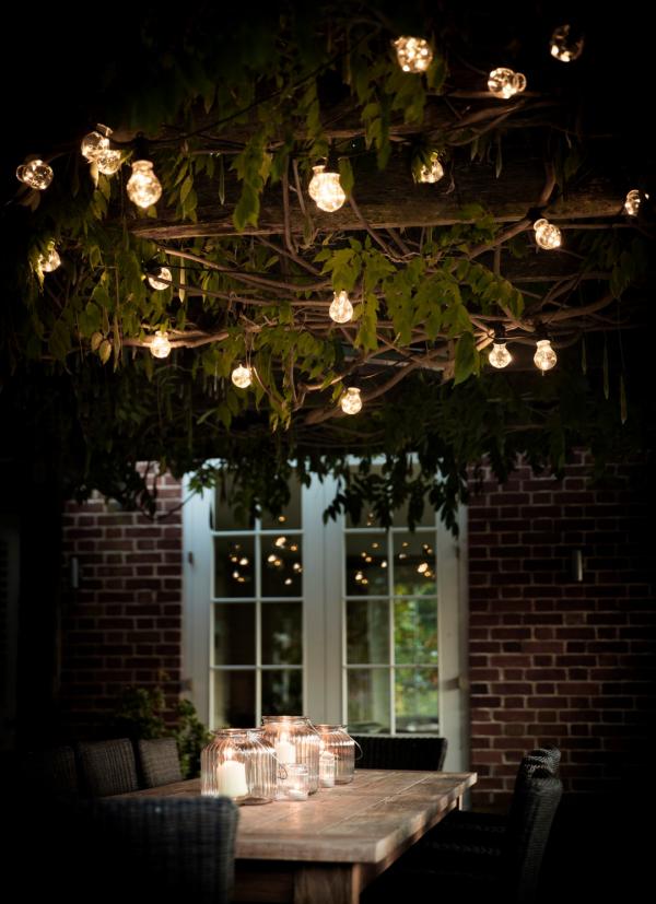 éclairage de jardin lumière au-dessus