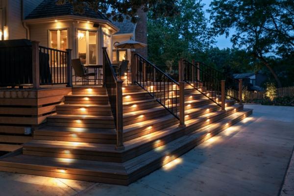 éclairage extérieur lampes escalier