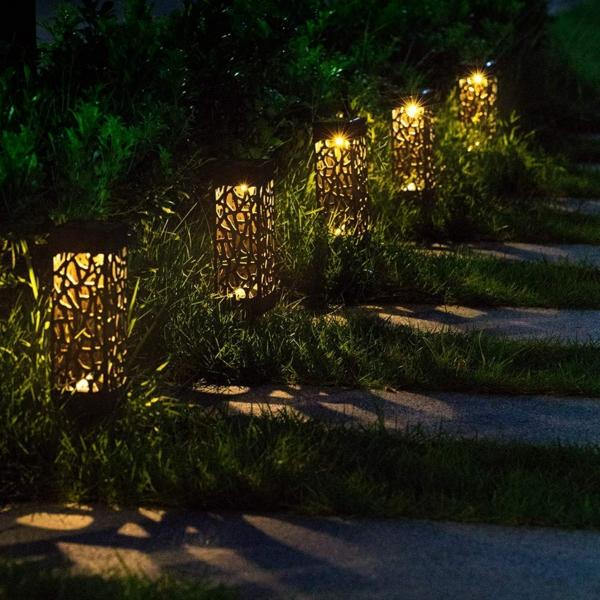 éclairage extérieur lanternes en acier corten