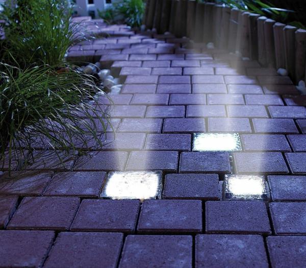 éclairage extérieur luminaires led allée de jardin