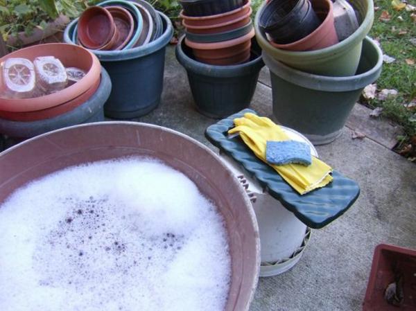 5 façons d'utiliser le savon de Castille dans le jardin laver ses pots de plantes